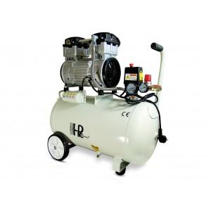 Hiljainen öljytön hammaskompressori 1100W 50l