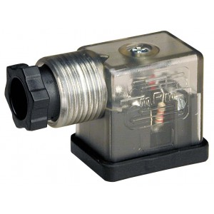 Kytke magneettiventtiiliin DIN 43650B LEDillä - pieni
