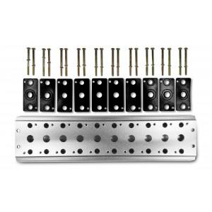 Keräilylevy 10 venttiilin 1/4 sarjan 4V2 4A ryhmäventtiilin liittimen 5/2 5/3 kytkemiseksi