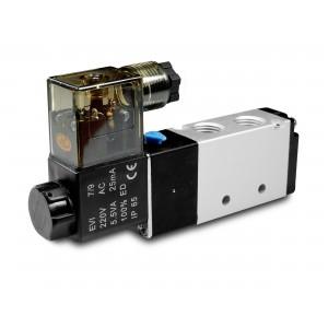 Magneettiventtiili 5/2 4V410 1/2 tuumaa pneumaattisille sylintereille 230 V tai 12 V, 24 V