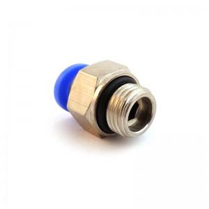 Tulppa nipan suora letku 8 mm lanka 3/8 tuuman PC08-G03
