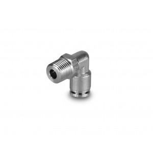 Tulppa nipan kulmainen ruostumattomasta teräksestä valmistettu letku, 10 mm lanka, 1/4 tuuman PLSW10-G02