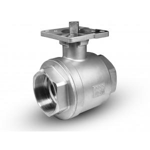 Ruostumattomasta teräksestä valmistettu palloventtiili 2 1/2 tuuman DN65 PN40 asennuslevy ISO5211