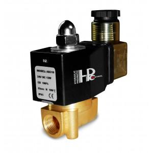 Solenoidiventtiili 2N08 1/4 230 V tai 24 V, 12 V Viton - kemikaalienkestävä