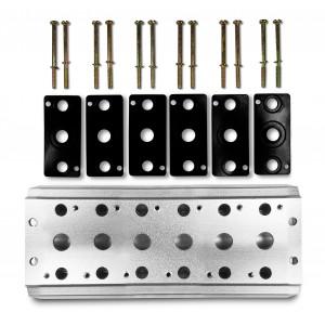 Keräilylevy 6 venttiilin 1/4 sarjan 4V2 4A ryhmäventtiilin liittimen 5/2 5/3 kytkemiseksi