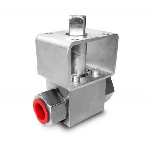 Korkeapaineinen palloventtiili 1/4 tuuman SS304 HB22 asennuslevy ISO5211