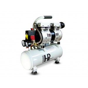 Äänetön öljytön hammaskompressori 550W 6l