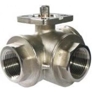 3-tie palloventtiili 1 tuuman DN25-asennuslevy ISO5211 teollisuus