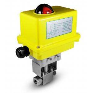 Korkeapaineinen palloventtiili 1/4 tuuman SS304 HB22 sähkötoimilaitteella A250
