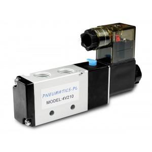 Magneettiventtiili paineilmasylintereihin 4V210 5/2 1/4 230V 12V 24V