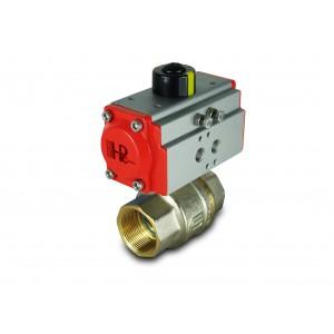 Messinki palloventtiili 2 tuumaa DN50 pneumaattisella toimilaitteella AT52