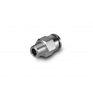 Tulppa nippa suora ruostumattomasta teräksestä valmistettu letku 12 mm lanka 3/8 tuuman PCSW12-G03