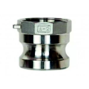 Camlock-liitin - tyyppi A 1/2 tuuman DN15 SS316