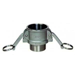 Camlock-liitin - tyyppi B 1 1/2 tuuman DN40 SS316